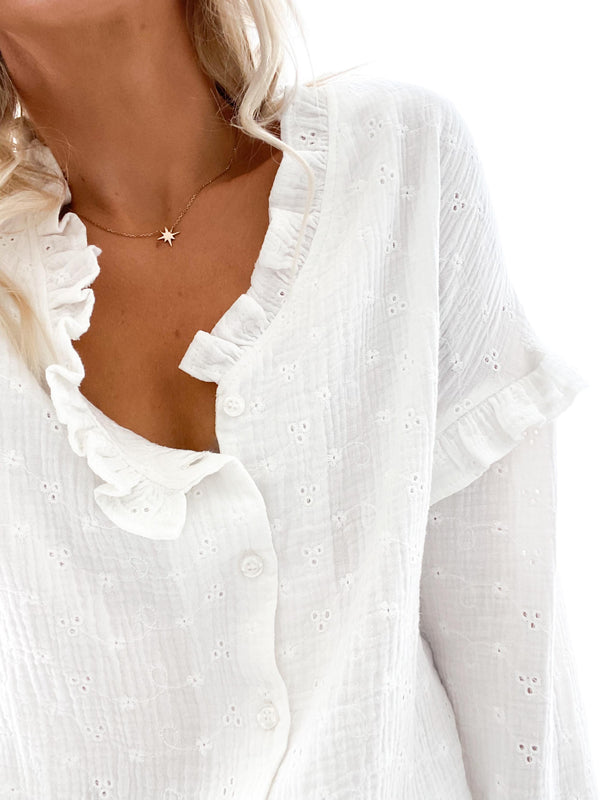 ♡ BLOUSE MARLY BLANCHE ♡