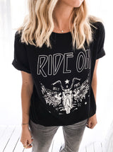 T-SHIRT RIDE ON NOIR