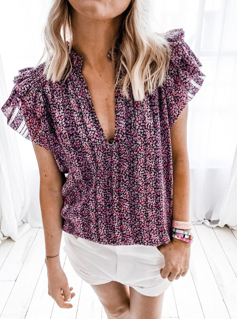 BLOUSE FLOWERS ROSE