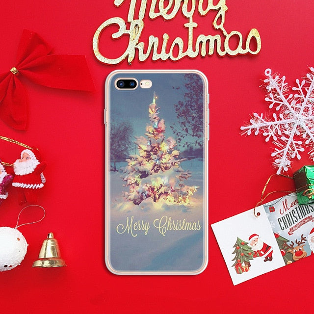 Soft Case  Xmas Cover For  iPhone