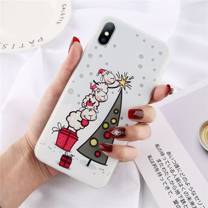 Cartoon Christmas Luminous Phone Case