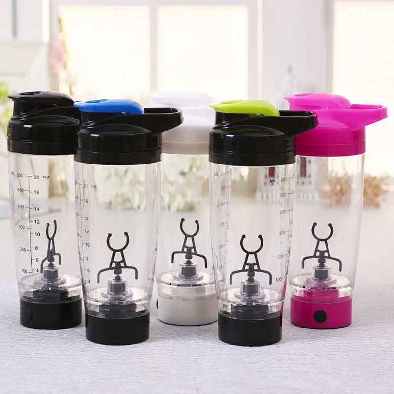 Bilutty; 600ml Mixer Bottle Water Bottle Portable Electric