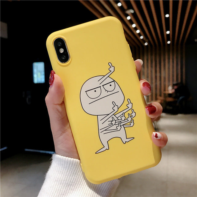 Cartoon Finger Funny Banana Case