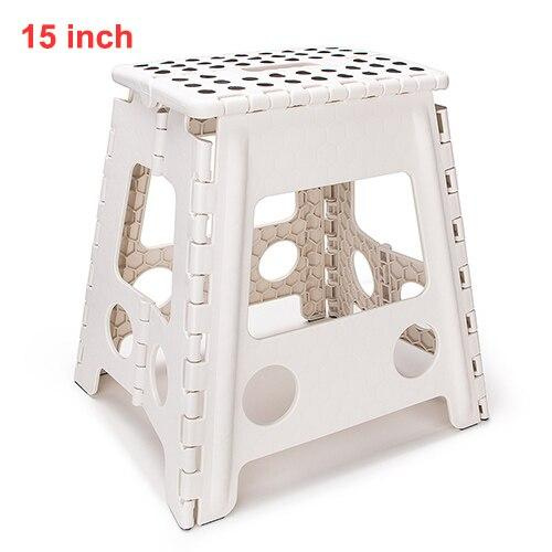 Travel Outdoor camping Folding Step Stool Plastic Carrying handle Portable Folding Chair Anti-slip Bathroom Stool 29x22x27CM