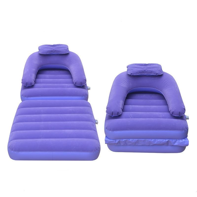 Inflatable Chair For Adult Flock Inflatable Sofa Folding Bed Cushion For Living Room Bedroom Outdoor Chair with Inflator Pump