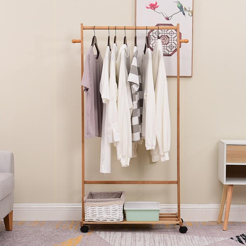 Nanzhu coat and hat rack can be moved to hang hangers home bedroom hangers floor hangers creative clothes rack multi-functional