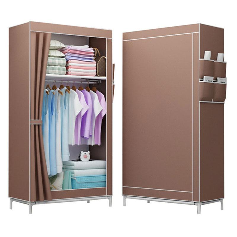 Folding Non-woven Cloth Wardrobe Student Children Bedroom Small Wardrobe DIY Assembly Clothes Storage Cabinet Home Furniture