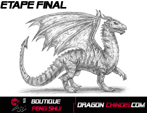 Dessiner un Dragon Médiéval Etape Final