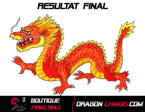 Etape Final Dessiner un Dragon Chinois