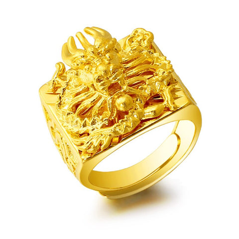 "Bague Dragon<br> Sheyron Ajustable ""Or"" - Dragon-chinois"