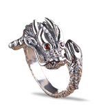 "Bague Dragon<br> Rubis 925 ""Argent"" - Dragon-chinois"