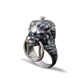"Bague Dragon<br> Viking ""Argent"" - Dragon-chinois"