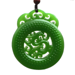 Collier Dragon<br> Jade Porte Bonheur - Dragon-chinois