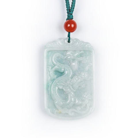 Collier Dragon<br> Jade Impériale - Dragon-chinois