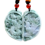 Collier Dragon<br> Jade Véritable - Dragon-chinois