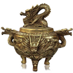 Brûle Parfum<br> Indochinois Ancien - Dragon-chinois