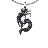 "Pendentif Dragon<br> Serpent ""Argent"" - Dragon-chinois"