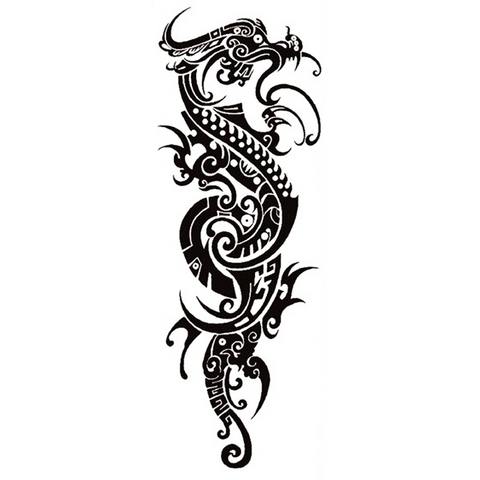Tatouage Éphémère<br> Dragons Tribal - Dragon-chinois