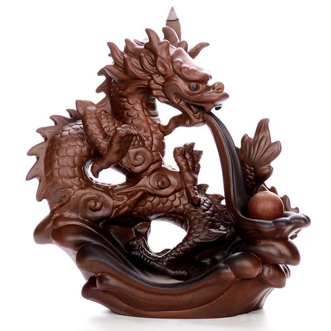 Porte Encens Dragon<br>  Médiéval - Dragon-chinois