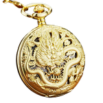 "Montre Gousset<br> Dragon ""Or"" - Dragon-chinois"