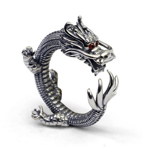 "Bague Dragon<br> Oriental ""Argent"" - Dragon-chinois"