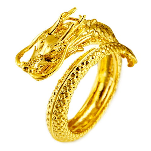 "Bague dragon<br> Impériale ""Or"" - Dragon-chinois"
