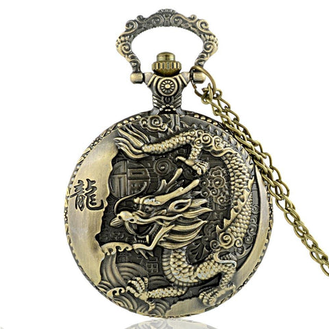 Montre Gousset<br> Bronze - Dragon-chinois