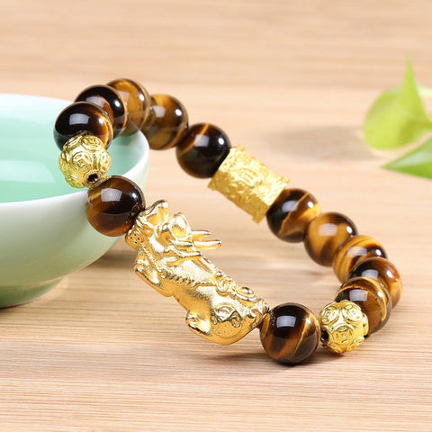 Bracelet Dragon<br> Perle et Or - Dragon-chinois
