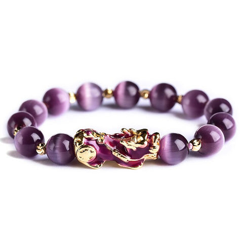 Bracelet Dragon<br> Perle Lithotherapie - Dragon-chinois