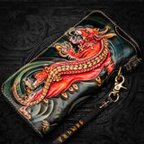 Portefeuille Dragon <br> Homme Cuir - Dragon-chinois