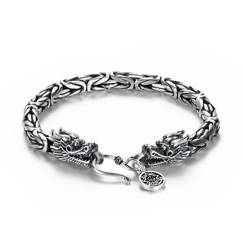 "Bracelet Dragon<br> Maille de Chine ""Argent"" - Dragon-chinois"