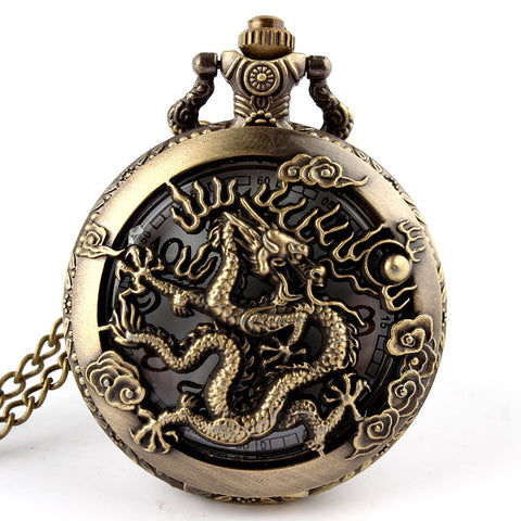 Montre Gousset<br> Quartz - Dragon-chinois