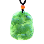 Collier Dragon<br> Jade Vert Ancien - Dragon-chinois