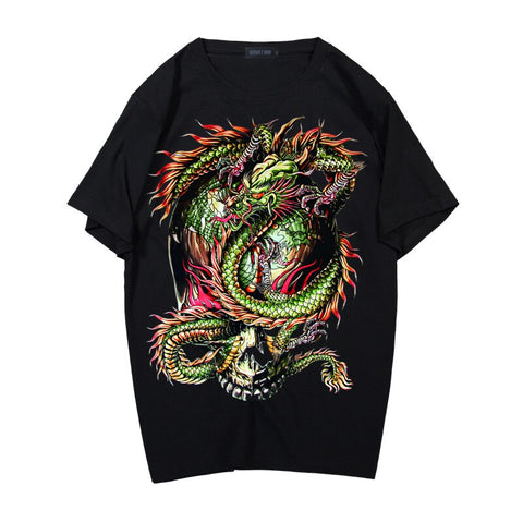 T-shirt Dragon<br> Asiatique - Dragon-chinois