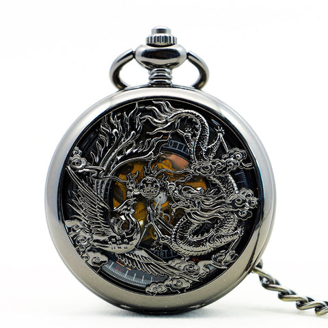 Montre Gousset<br> Dragon de Poche de Luxe - Dragon-chinois
