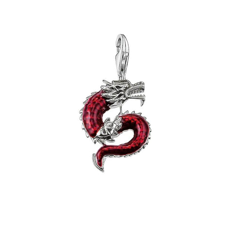 Pendentif Dragon <br> Rouge - Dragon-chinois