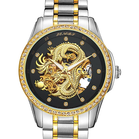 Montre Dragon<br> Mécanique Chinoise - Dragon-chinois