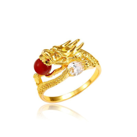 "Bague Dragon<br> Orientale ""Or"" - Dragon-chinois"