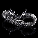 "Bracelet Dragon<br> Maille de Serpent ""Acier"" - Dragon-chinois"