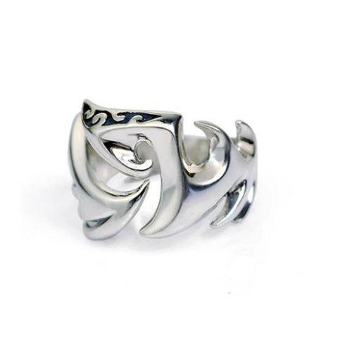 "Bague Dragon<br> Tribal ""Argent"" - Dragon-chinois"