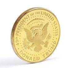 Load image into Gallery viewer, 12Pack-Donald Trump Gold Coin Token 2018 24kt Gold Plated Collectible 45th President of the United States Original Design