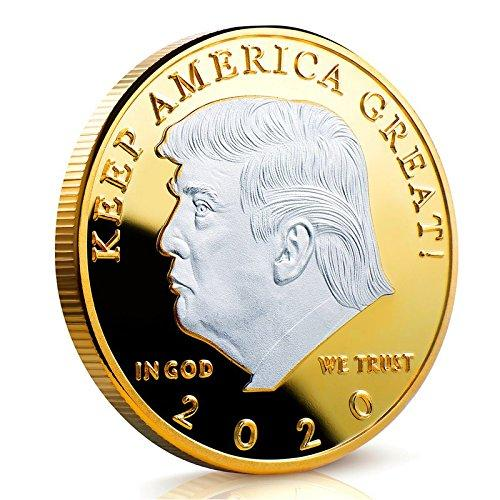 2020 Donald Trump Keep America Great Coin - Two Tone Silver On Gold - Collector's Edition