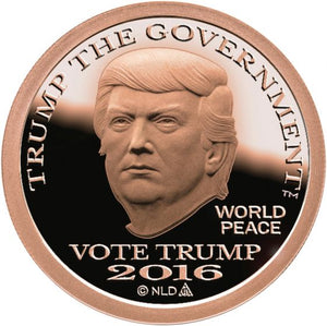 2016 - VOTE DONALD TRUMP COPPER DOLLAR COIN - 1 OZ. - .999 - BU