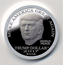 Load image into Gallery viewer, 2017 - PROOF DONALD TRUMP MAGA SILVER DOLLAR COIN - 1 OZ. - BU