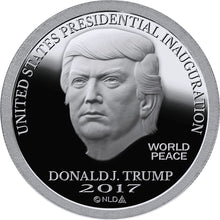 Load image into Gallery viewer, 2017 - DONALD TRUMP PROOF INAUGURAL SILVER DOLLAR COIN - 1 OZ. - 999 - BU