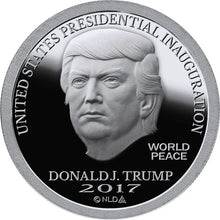 Load image into Gallery viewer, 2017 - DONALD TRUMP INAUGURAL SILVER DOLLAR COIN - 1 OZ. - .999 - BU