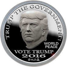 Load image into Gallery viewer, 2016 - VOTE DONALD TRUMP SILVER DOLLAR COIN - 1 OZ. - .999 - BU