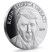 Load image into Gallery viewer, Donald Trump Keep America Great Silver 2018 - Commemorative - 40 MM Coins
