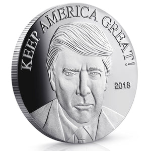 Donald Trump Keep America Great Silver 2018 - Commemorative - 40 MM Coins