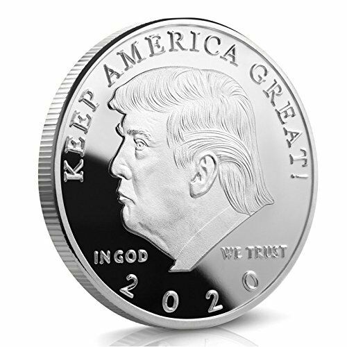 Donald Trump 2020 - KEEP AMERICA GREAT - Silver Challenge Coin - 40 MM